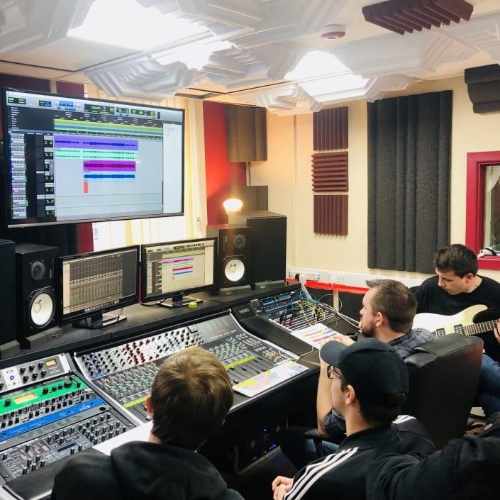 Martyn teaching Audio Engineering