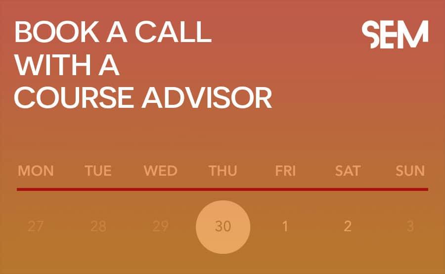 Book a call with a course advisor